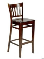 Hants Wooden High Stool in Walnut